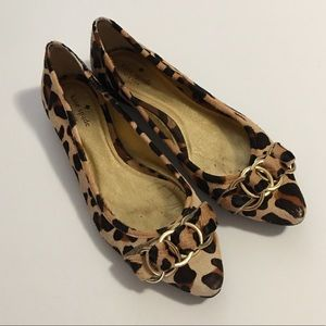 Kate Spade Eryn Leopard Print Pointed Toe Flats